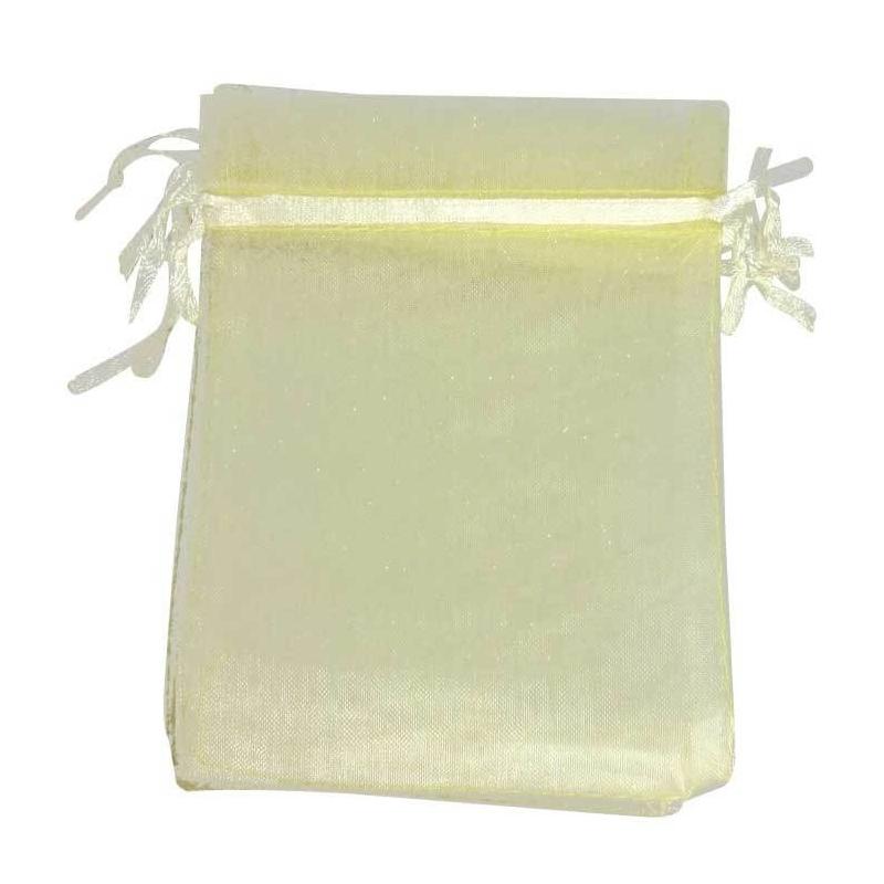 9 x 15 sacchetti di organza beige