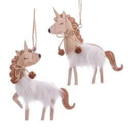 Ciondolo unicorno in legno 2 / m 10 x 12 x 0,50 cm