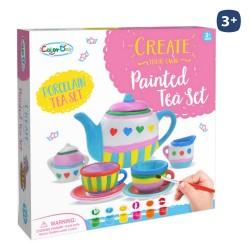 Servizio da caffè/tè con accessori in ceramica