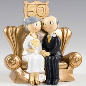 Cifre per torte nuziali in oro
