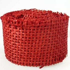 Griglia del nastro in rotolo per dettagli rossi