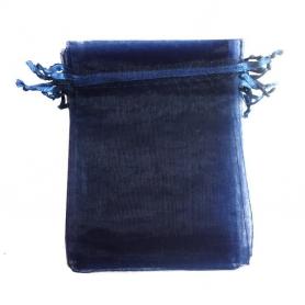 Borsa in organza per dettagli blu navy 15 x 20