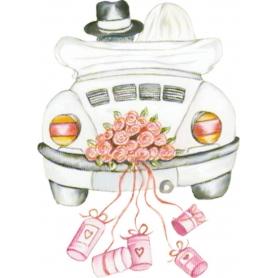 Adesivi per auto matrimonio