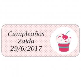 Etichetta di compleanno