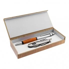 Set penna e temperino in scatola