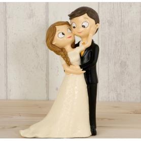 Torta nuziale della sposa e dello sposo