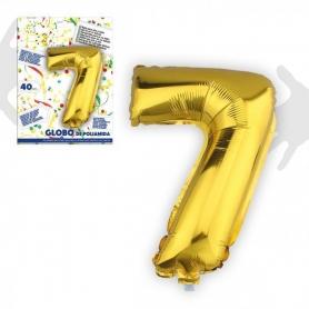 Palloncini di numeri metallici
