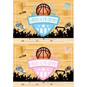 Invito di compleanno di basket