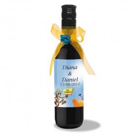 Bottiglia di vino con etichetta personalizzata