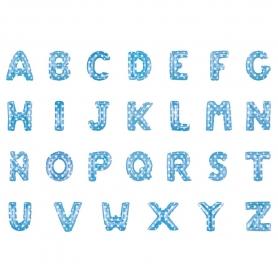Lettere di palloncini blu