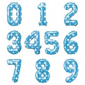 Palloncini numero blu