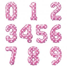 Palloncini rosa numero