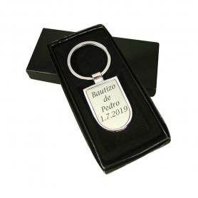 Portachiavi battesimo personalizzato in argento