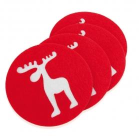 Set di 4 sottobicchieri di Natale