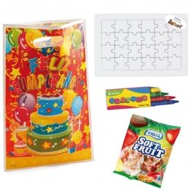 Puzzle con caramelle di compleanno
