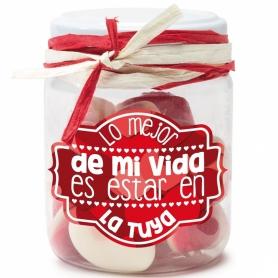 Vasetti di caramelle con messaggi