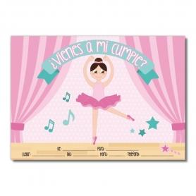Invito di compleanno di balletto