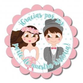 Adesivi originali per dettagli di nozze