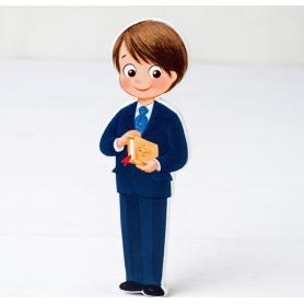 Figura 2d Costume comunione bambino in legno e