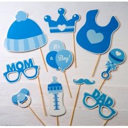 Set di acconciature per bambini in blu, 10 pezzi