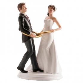 Figura di sposi con anelli