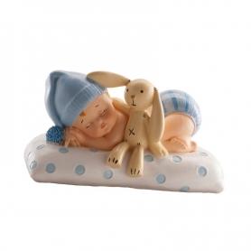 Figura di battesimo Bambino con orsacchiotto
