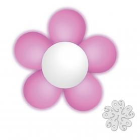 Confezione di fiori palloncino rosa